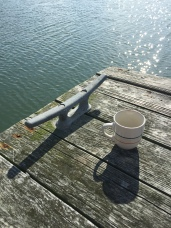 Coffee on the dock, best way to start the day!