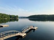 Lake Megunticook on a still morning.